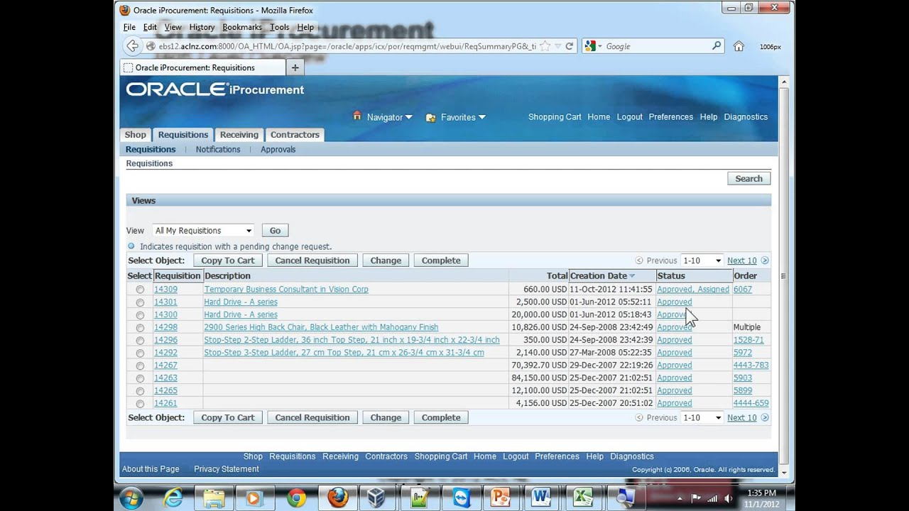 Overview of Oracle iProcurement (EBS R12 1 3+)