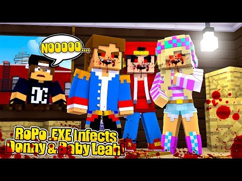 Minecraft .EXE - ROPO .EXE INVADES DONNY & LEAH'S CASTLE TO INFECT THEM!!