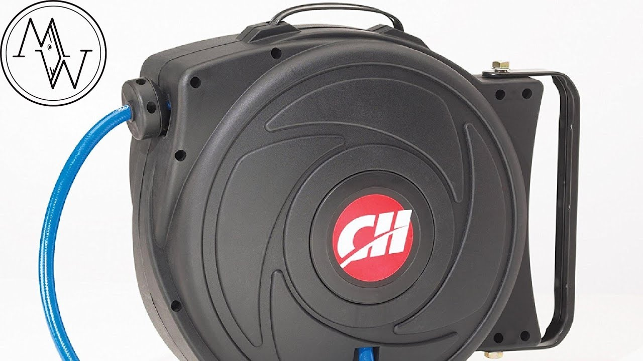 campbell hausfeld 50' retractable hose reel - do you get what you pay for?  // tool review