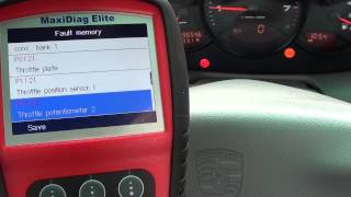 Porsche Check Engine Warning Dash Light Diagnose Video Autel MD802