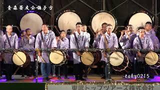 「青森ねぶた祭」に平成2年から出陣している「青森菱友会」の囃子方と...
