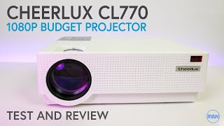CHEERLUX CL770 LCD 1080p BUDGET Projector REVIEW -  UNDER $200 - I'M IMPRESSED! (2019)