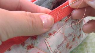 How to Hand stitch a Zipper on Hexa Pouch from JamiesQuilting