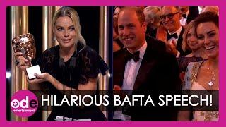 BAFTAs: Margot Robbie gives HILARIOUS acceptance speech on Brad Pitt's behalf