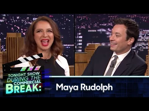 Maya Rudolph and Jimmy Fallon During Commercial Break