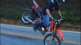 Richie Simpson #167 Riding My KTM 300 2 Stroke MX Bike Doing Wheelies Whips Stoppies And More