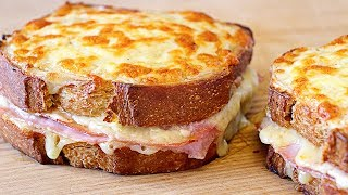 Croque monsieur sandwich - Easy and rich recipe