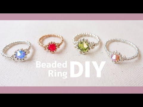 作り方 ビーズ 指輪