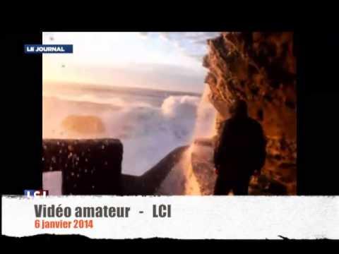 Tempête à Biarritz : les imprudents ont bu la tasse  - Zapping
