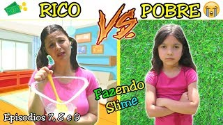 RICO VS POBRE FAZENDO AMOEBA / SLIME  ( Parte 7, 8 e 9 ) SLIME SLIME !!