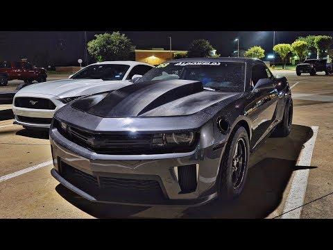 Dallas Streets - Turbo Camaro, Turbo Coyotes, Turbo Corvette, 700hp Miata!
