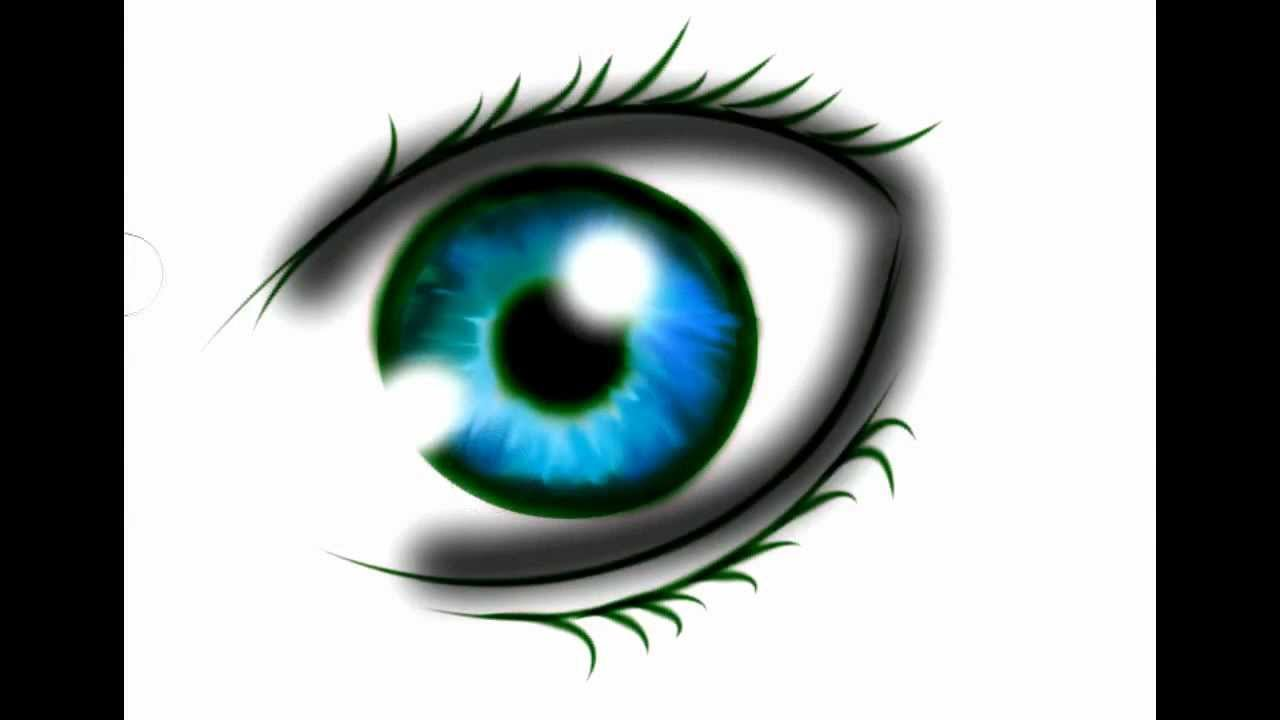 drawing anime eye in photoshop (hd) - youtube