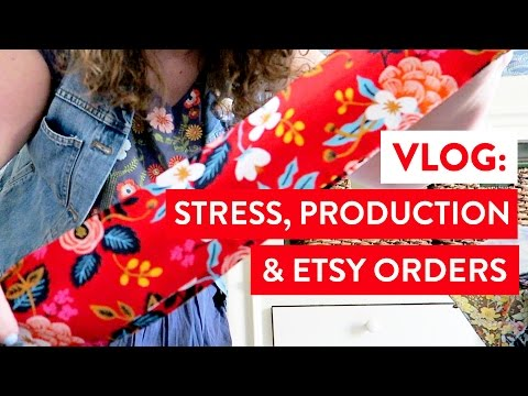 VLOG: Stress, Production and Etsy Orders | Small Business Day in the Life