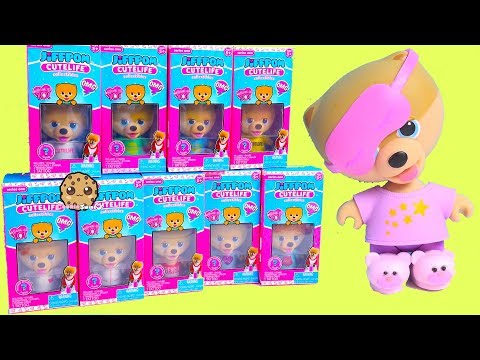 Cute Puppy Dog JiffPom Toy with Surprise Blind Bags - Cookie Swirl