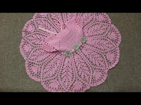 a737e24c3 Vestido Rosa 3 Meses Crochet - YouTube