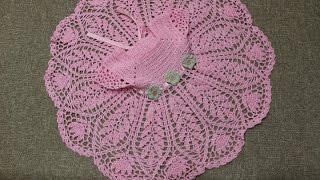 vestido rosa 3 meses crochet