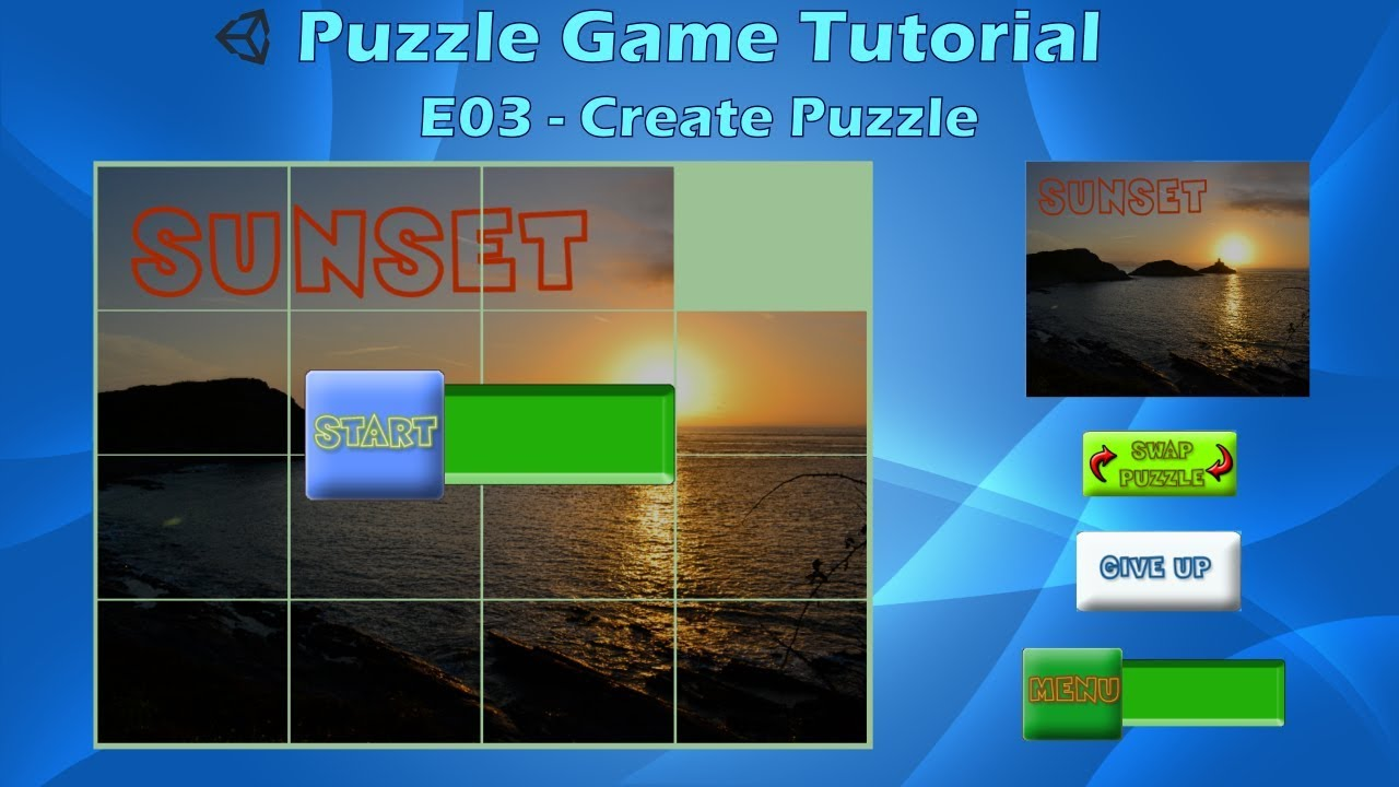 How to make a Puzzle Game (E03 Create Puzzle) - Unity Tutorial