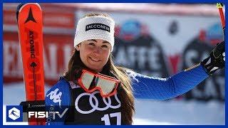 Sofia Goggia: 'Contenta di aver vinto anche in SuperG'