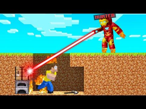 IRON MAN HUNTER Vs SPEEDRUNNER In Minecraft!