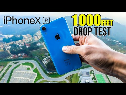 iPhone Xr DROP TEST - From 1000ft high! | in 4K