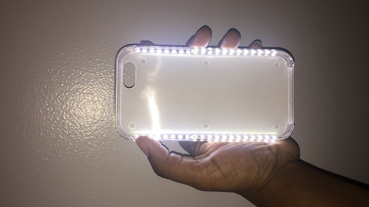 new style e0d2c 9ec77 iPhone 6/6s Selfie Light Up Case UNPACKING / REVIEW from AMAZON!!!