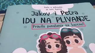 """Swimming Dad - Slikovnica """"Jakov i Petra IDU NA PLIVANJE!"""""""