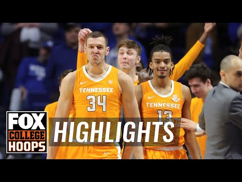 Tennessee Silences No. 6 Kentucky, Erasing 15-point Lead On The Road | FOX COLLEGE HOOPS HIGHLIGHTS