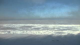 Frozen Lake Baikal Taken From Trans-Siberian Railway