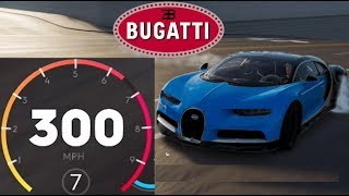 The Crew 2 - Getting the Bugatti Chiron Over 300mph (500kmh) (Without Drafting)
