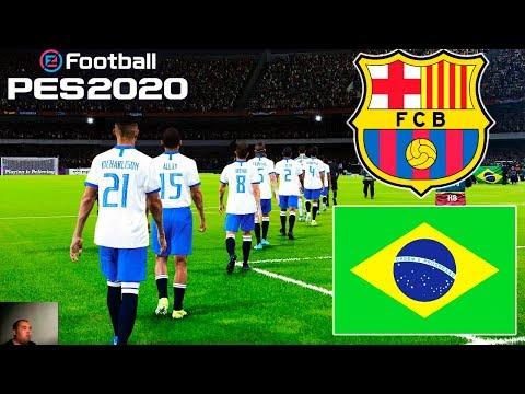 PES 2020 | Barcelona Vs Brazil | Full Match | All Goals HD | Gameplay PC