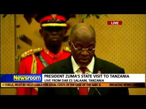 Tanzania Pres. John Magufuli welcomes Pres. Zuma