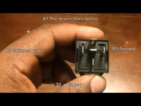 How to wire a 3040 Amp relay  YouTube