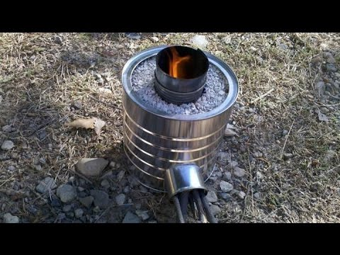 Tuto fabrication d 39 un rocket stove youtube - Pellet stoves for small spaces set ...