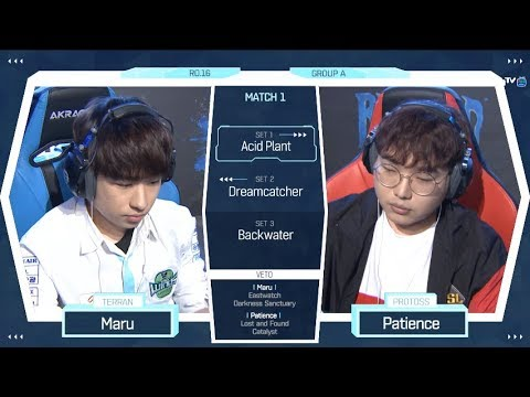 [2018 GSL Season 2] Code S Ro.16 Group A Match1 Maru vs Patience