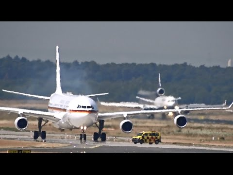 Queen Elizabeth II lands at Frankfurt Airport - Airbus A340-300 - German Airforce Luftwaffe