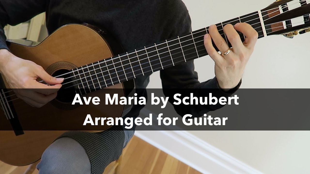 Ave Maria By Schubert For Fingerstyle Guitar Sheet Music Tab Pdf