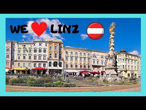 AUSTRIA: The Magnificent MAIN SQUARE (HAUPTPLATZ) In LINZ On A Sunny Day