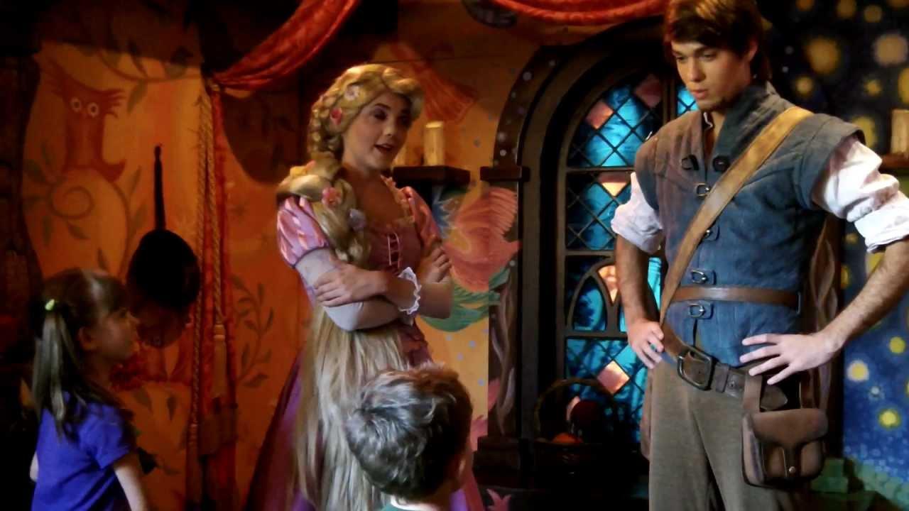 flynn rider and rapunzel disneyland meet
