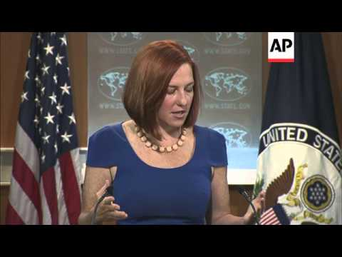 """State Department spokeswoman Jen Psaki said the U.S. """"strongly supported"""" the cease-fire agreement a"""