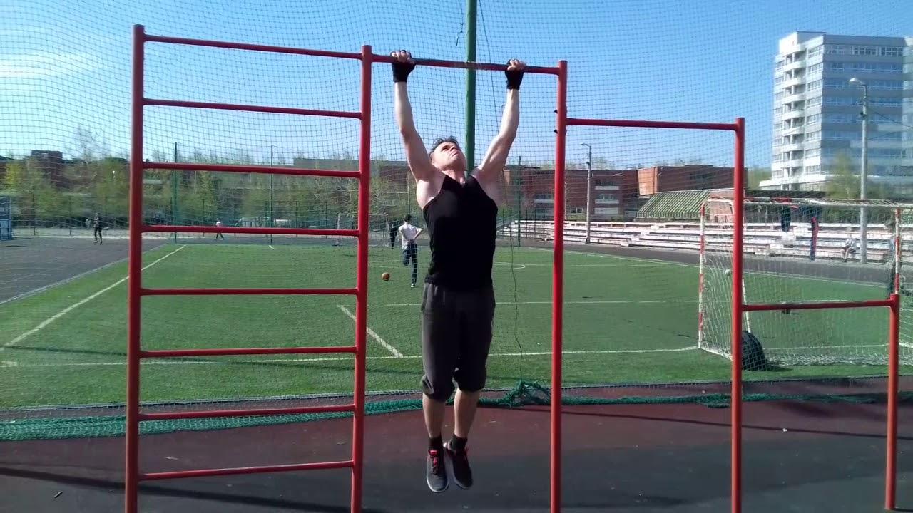 32 подтягивания , без раскачки. 32 Pull-ups without swinging
