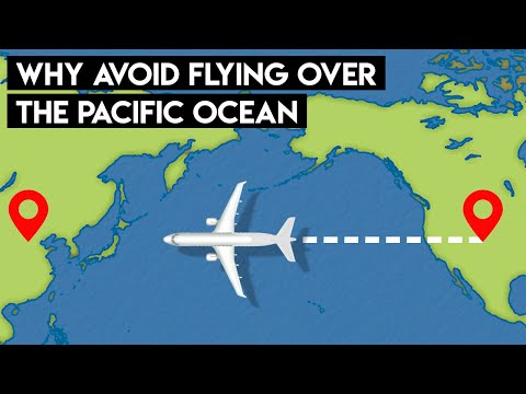Here's Why Planes Don't Fly Over The Pacific Ocean