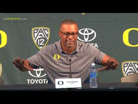 Willie Taggart at Oregon Football Media Day