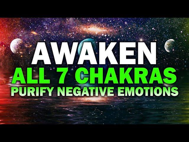 852 Hz ! Awaken All 7 Chakras ! Remove All Negative Energy ! Purify & Release Negative Emotions