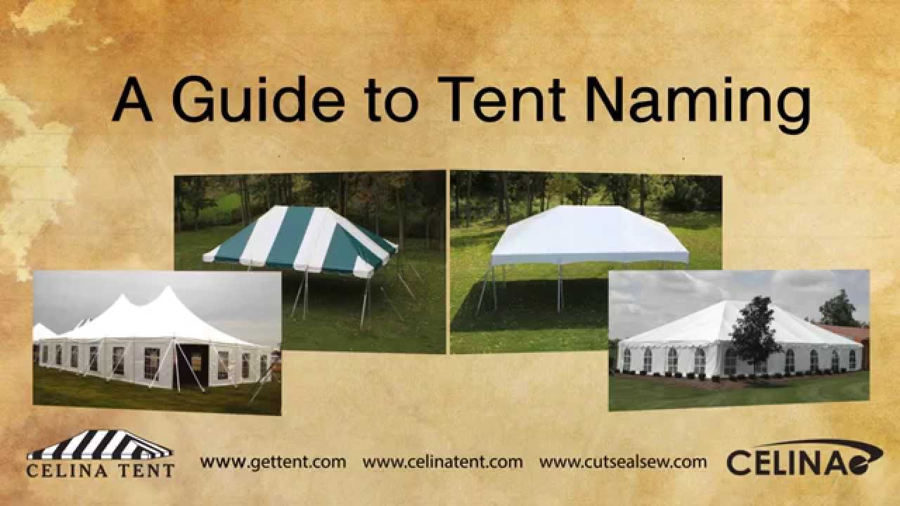 A Guide To Naming Tents - Shelter, Canopy & Tent Naming System