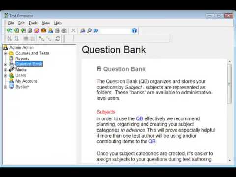 Why and How to Create a Question Bank