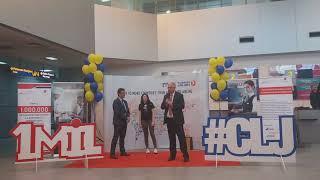 Pasagerul 1.000.000 la Aeroportul Cluj