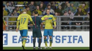 EM Frankrike 2016 - FIFA 16 Sverige vs belgien