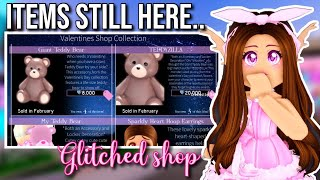 THE VALENTINES DAY ITEMS ARE STILL HERE..| Roblox Royale High