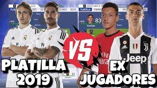 JUGADORES REAL MADRID ACTUAL vs JUGADORES EX REAL MADRID | Experimento FIFA 19