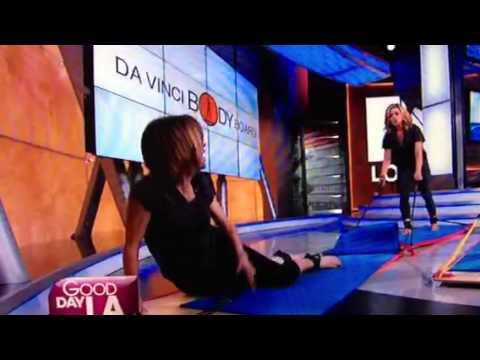 Lisa Breck falls while exercising